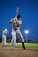 Siena Saints center fielder Dan Swain (22) warms up before a game against the UCF Knights on February 17, 2017 at UCF Baseball Complex in Orlando, Florida.  UCF defeated Siena 17-6.  (Mike Janes/Four Seam Images)