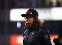Apr 20, 2018; Baytown, TX, USA; Kay Torrence, wife of NHRA top fuel driver Billy Torrence during qualifying for the Springnationals at Royal Purple Raceway. Mandatory Credit: Mark J. Rebilas-USA TODAY Sports