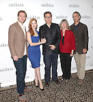 Dan Stevens, Jessica Chastain, Moises Kaufman, Judith Ivey and David Strathairn attending the Meet & Greet the Broadway Cast of 'The Heiress'  at the Empire Hotel in New York City on September 13, 2012