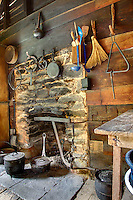 Interior view of cabin, Mountain Farm Museum, Great Smoky Mountains National Park, North Carolina