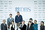 Robert Smith of Great Britain riding Cimano E celebrates winning the Masters One DBS, with the second placed Christian Kukuk of Germany riding Cordess and the third placed Gerco Schroder of The Netherlands riding Glock's Lausejunge during the Longines Masters of Hong Kong at AsiaWorld-Expo on 11 February 2018, in Hong Kong, Hong Kong. Photo by Ian Walton / Power Sport Images