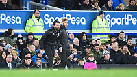 Lincoln City manager Danny Cowley, left, and Lincoln City's assistant manager Nicky Cowley <br /> <br /> Photographer Andrew Vaughan/CameraSport<br /> <br /> Emirates FA Cup Third Round - Everton v Lincoln City - Saturday 5th January 2019 - Goodison Park - Liverpool<br />  <br /> World Copyright &copy; 2019 CameraSport. All rights reserved. 43 Linden Ave. Countesthorpe. Leicester. England. LE8 5PG - Tel: +44 (0) 116 277 4147 - admin@camerasport.com - www.camerasport.com