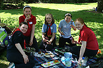 Jessica, Shauna, Caoimhe, Aimee and Emma at the Girl Guides Cook Out Competition at Townley Hall...Photo NEWSFILE/Jenny Matthews.(Photo credit should read Jenny Matthews/NEWSFILE)....This Picture has been sent you under the condtions enclosed by:.Newsfile Ltd..The Studio,.Millmount Abbey,.Drogheda,.Co Meath..Ireland..Tel: +353(0)41-9871240.Fax: +353(0)41-9871260.GSM: +353(0)86-2500958.email: pictures@newsfile.ie.www.newsfile.ie.FTP: 193.120.102.198.