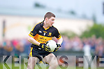 Kieran O'Leary of Dr Crokes in action against Gneeveguilla in Gneeveguilla last Sunday evening in round 1 of the Garvey's Supervalue County Senior Championship.