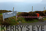 Access to the Tetrapod Track in Valentia closed due to a faulty gate.