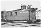 Left side of caboose #0589.<br /> D&amp;RGW