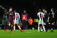 Connor Roberts of Swansea City looks dejected at full time during the Sky Bet Championship match between West Bromwich Albion and Swansea City at The Hawthorns in Birmingham, England, UK. Wednesday 13 March 2019