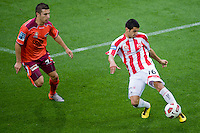 MELBOURNE, AUSTRALIA - NOVEMBER 14: Aziz Behich of the Heart controls the ball during the round 14 A-League match between the Melbourne Heart and Brisbane Roar at AAMI Park on November 14, 2010 in Melbourne, Australia (Photo by Sydney Low / Asterisk Images)