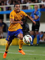 Calcio: amichevole Fiorentina vs Barcellona. Firenze, stadio Artemio Franchi, 2 agosto 2015.<br /> FC Barcelona's Pedro Rodriguez in action during the friendly match between Fiorentina and FC Barcelona at Florence's Artemio Franchi stadium, 2 August 2015.<br /> UPDATE IMAGES PRESS/Riccardo De Luca