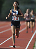 Samantha Law, Great Neck North sophomore, stays ahead of the pack in the girls 1,500 meter run during the Nassau County AA track and field championships at Glen Cove High School on Thursday, May 26, 2016. She won the event with a time of 5:02.86.