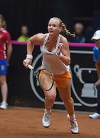 The Netherlands, Den Bosch, 20.04.2014. Fed Cup Netherlands-Japan, Kiki Bertens (NED)<br /> Photo:Tennisimages/Henk Koster