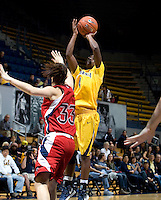 Eliza Pierre of California shoots the ball during the game against St. Mary's at Haas Pavilion in Berkeley, California on November 15th, 2012.  California defeated St. Mary's, 89-41.