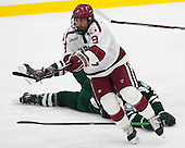 Luke Esposito (Harvard - 9) - The Harvard University Crimson defeated the Dartmouth College Big Green 5-2 to sweep their weekend series on Sunday, November 1, 2015, at Bright-Landry Hockey Center in Boston, Massachusetts. -