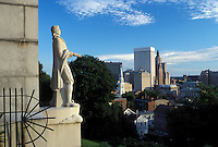 Providence, RI, Rhode Island, Aerial view of downtown Providence from Prospect Terrace.