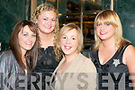 SUGAR & SPICE: Killarney girls spicing up New Year's Eve in the Plaza Hotel, Killarney were l-r: Kim Fitzgerald, Laura Glynn, Moira Healy and Leona Breton.   Copyright Kerry's Eye 2008