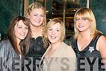 SUGAR & SPICE: Killarney girls spicing up New Year's Eve in the Plaza Hotel, Killarney were l-r: Kim Fitzgerald, Laura Glynn, Moira Healy and Leona Breton.   Copyright Kerry's Eye 2008