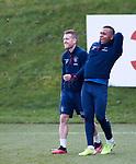 06.03.2020: Rangers training: Steven Davis and Alfredo Morelos