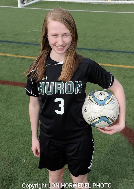Huron High School girl's varsity soccer team. 4-2-14