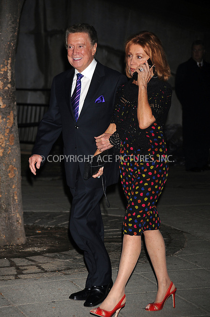 WWW.ACEPIXS.COM . . . . . ....April 21 2009, New York City....TV personality Regis Philbin and his wife Joy arriving at the Vanity Fair party for the 2009 Tribeca Film Festival at the State Supreme Courthouse on April 21, 2009 in New York City.....Please byline: KRISTIN CALLAHAN - ACEPIXS.COM.. . . . . . ..Ace Pictures, Inc:  ..tel: (212) 243 8787 or (646) 769 0430..e-mail: info@acepixs.com..web: http://www.acepixs.com