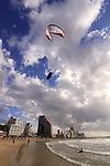 Israel, kitesurfing in Tel Aviv