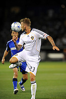 David Beckham flicks the ball past him..Kansas City Wizards tied 1-1 with LA Galaxy at Community America Ballpark, Kansas City, Kansas.