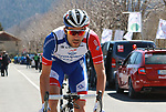Thibaut Pinot (FRA) Groupama-FDJ before the start of Stage 4 of the Volta Ciclista a Catalunya 2019 running 150.3km from Llanars (Vall De Camprodon) to La Molina (Alp), Spain. 28th March 2019.<br /> Picture: Colin Flockton | Cyclefile<br /> <br /> <br /> All photos usage must carry mandatory copyright credit (© Cyclefile | Colin Flockton)