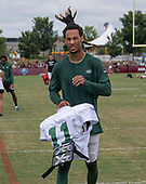 New York Jets wide receiver Robby Anderson (11) leaves the field after participating in a joint training camp practice with the Washington Redskins at the Washington Redskins Bon Secours Training Facility in Richmond, Virginia on Monday, August 13, 2018.<br /> Credit: Ron Sachs / CNP<br /> (RESTRICTION: NO New York or New Jersey Newspapers or newspapers within a 75 mile radius of New York City)