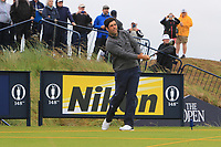 Adrian Otaegui (ESP) on the 9th during the preview of the the 148th Open Championship, Portrush golf club, Portrush, Antrim, Northern Ireland. 17/07/2019.<br /> Picture Thos Caffrey / Golffile.ie<br /> <br /> All photo usage must carry mandatory copyright credit (© Golffile | Thos Caffrey)