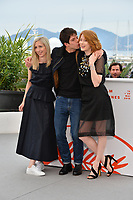 "CANNES, FRANCE. May 18, 2019: Jessica Hausner, Phenix Brossard & Emily Beecham at the photocall for the ""Little Joe"" at the 72nd Festival de Cannes.<br /> Picture: Paul Smith / Featureflash"
