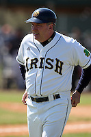 February 28, 2010:  Head Coach Dave Schrage of the Notre Dame Fighting Irish during the Big East/Big 10 Challenge at Raymond Naimoli Complex in St. Petersburg, FL.  Photo By Mike Janes/Four Seam Images