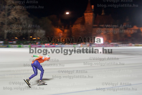 Nederland's Sven Kramer won the Men's 10000m race of the Speed Skating All-round European Championships in Budapest, Hungary on January 8, 2012. ATTILA VOLGYI