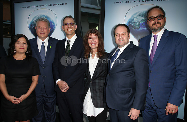 "HOLLYWOOD, CA - JULY 25: Bonni Cohen, Al Gore, Jon Shenk, Diane Weyermann, Jeff Skoll, Richard Berge, At Screening Of Paramount Pictures' ""An Inconvenient Sequel: Truth To Power"" At ArcLight Hollywood In California on July 25, 2017. Credit: FS/MediaPunch"
