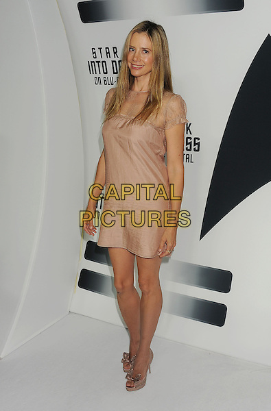 Mira Sorvino<br /> &quot;Star Trek Into Darkness&quot; DVD/Blu-Ray Release held at the California Science Center, Los Angeles, California, USA.<br /> September 10th, 2013<br /> full length dress beige lace <br /> CAP/ROT/TM<br /> &copy;Tony Michaels/Roth Stock/Capital Pictures