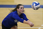 Marymount's Erin Allison gets a dig during a college volleyball match at Washington &amp; Lee University Lexington, Vir., on Saturday, Oct. 5, 2013.<br />