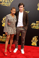 Amandla Stenberg &amp; Nick Robinson at the 2017 MTV Movie &amp; TV Awards at the Shrine Auditorium, Los Angeles, USA 07 May  2017<br /> Picture: Paul Smith/Featureflash/SilverHub 0208 004 5359 sales@silverhubmedia.com
