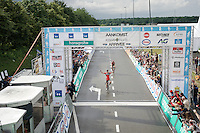 Philippe Gilbert (BEL/BMC) beats Tim Wellens (BEL/Lotto-Soudal) to the finish line and becomes Belgian National Champion for a 2nd time in his career<br /> <br /> Belgian National Road Cycling Championships 2016<br /> Les Lacs de l'Eau d'Heure