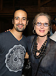 Meryl Streep vists the cast of 'Hamilton'