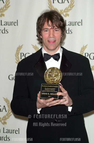 Producer DAVID E. KELLEY at the Producers Guild of America's 12th Annual Golden Laurel Awards in Los Angeles where he was presented with the David Susskind Lifetime Achievement Award in Television..03MAR2001.   © Paul Smith/Featureflash