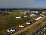 British Airways planes at Bournemouth Airport