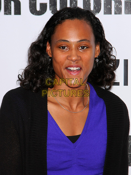 MARION JONES .The New York Special Screening of 'For Colored Girls' at Ziegfeld Theatre in New York City, New York, NY, USA. .25th October 2010.headshot portrait mouth open purple black .CAP/LNC/TOM.©TOM/LNC/Capital Pictures.