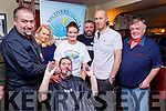 L-R Karol Winiarski, Emilia Kurowska, John O'Brien, Merisa Reidy, John Moriarty, Eugene O'Connell and Noel Power pictured at the Shave night at the end of the Movember Challenge in aid of Recovery Haven, at McElligotts bar Abbeydorney last Friday night.