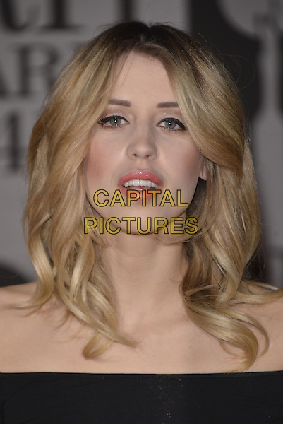 LONDON, ENGLAND - FEBRUARY 19: Peaches Geldof attends The BRIT Awards 2014 at 02 Arena on February 19, 2014 in London, England.<br /> CAP/PL<br /> &copy;Phil Loftus/Capital Pictures
