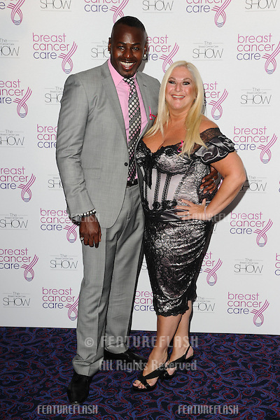Vanessa Feltz arriving for the Breast Cancer Care Fashion Show, Grosvenor House Hotel, London. 02/10/2012 Picture by: Steve Vas / Featureflash