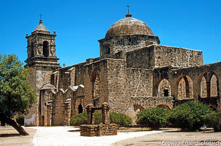 San Antonio:  Mission San Jose. This church was evidently not built until the 1760's.