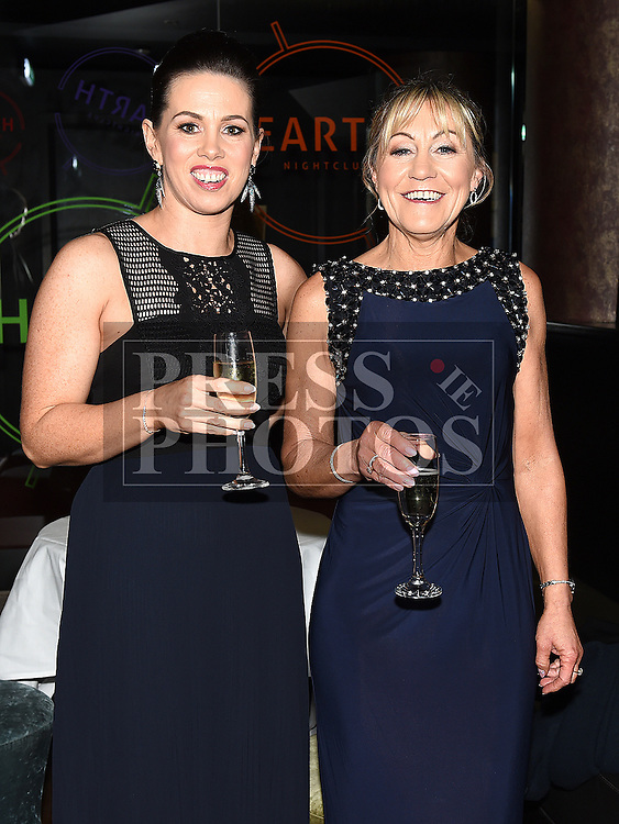 Aileen Byrne and Elizabeth Campbell at the ABACAS Valentine Ball at the Westcourt Hotel. Photo:Colin Bell/pressphotos.ie