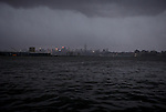 A general view of the hudson River from New Jersey while Hurricane Sandy affect New York area , United States. 30/10/2012. Photo by Kena Betancur/VIEWpress.