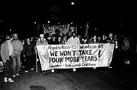File Photo - Anti Bush demonstration in San Francisco, CA, February 24, 1989.<br /> <br /> <br /> <br />  Photo :  Agence Quebec Presse- Pierre Roussel