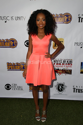 LOS ANGELES, CA - NOVEMBER 7: Skai Jackson at the Kids In The Spotlight's Movies By Kids, For Kids Film Awards at Fox Studios in Los Angeles, California on November 7, 2015. Credit: David Edwards/MediaPunch