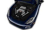 Car Stock 2017 Porsche Panamera Turbo 5 Door Hatchback Engine  high angle detail view