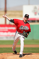 April 18, 2010: Jake Wild of the High Desert Mavericks during game against the Lake Elsinore Storm at Mavericks Stadium in Adelanto,CA.  Photo by Larry Goren/Four Seam Images